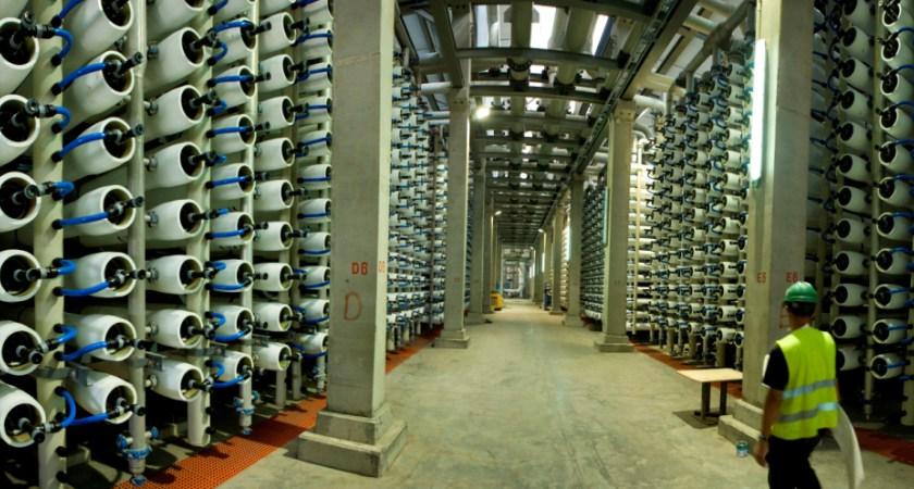 Resultado de imagen de Vista aérea de la nueva planta desalinizadora de Sorek, al sur de Tel Aviv