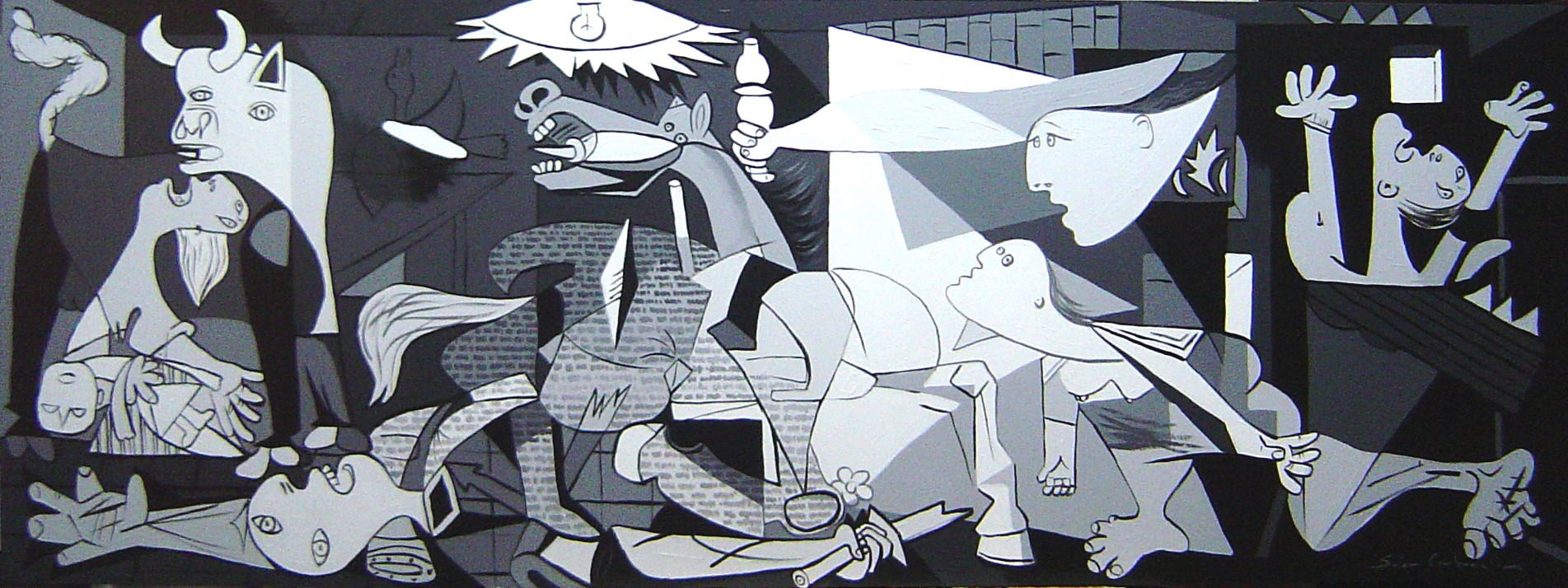 Guernica picasso pictures to pin on pinterest pinsdaddy for Mural guernica